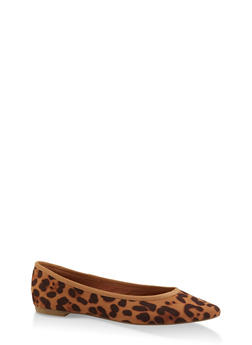 Pointed Toe Flats | 3112004062567 - LEOPARD PRINT - 3112004062567