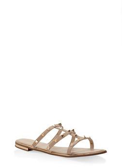 Studded Slide Sandals - 3112004062594