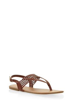 Slingback Thong Sandals - TAN - 3112004062740