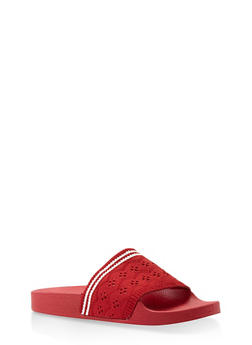 Knit Band Slides - RED - 3112004063534