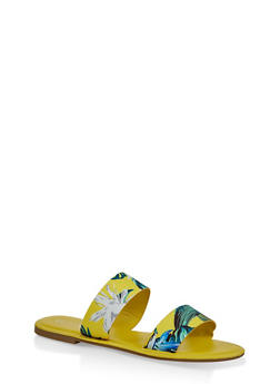 Printed Two Band Slide Sandals - 3112004067481