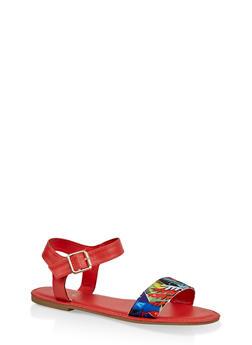 Single Band Ankle Strap Sandals | 3112004067483 - ORANGE - 3112004067483