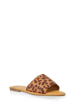 Wide Band Slide Sandals | 3112004067484 - LEOPARD PRINT - 3112004067484