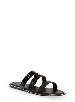 Triple Band Slide Sandals | 3112004067861 - BLACK - 3112004067861