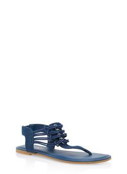Stretch Loop Thong Sandals - BLUE DENIM - 3112004067869