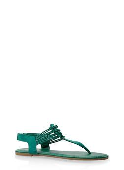 Elastic Thong Sandals - 3112004067879