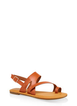 Asymmetrical Toe Ring Sandals | 3112004067893 - 3112004067893