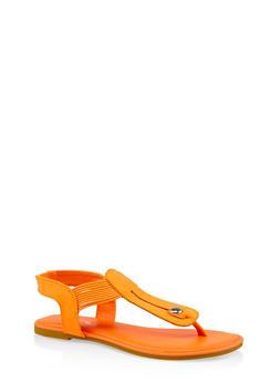 Elastic Strap Thong Sandals | 3112004067894 - 3112004067894