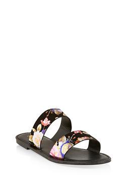 Two Band Slide Sandals | 3112004068345 - BLACK MULTI - 3112004068345