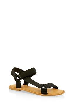 Tape Strap Sandals - BLACK - 3112004068486