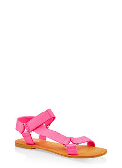 Tape Strap Sandals - PINK - 3112004068486