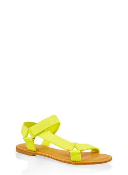 Tape Strap Sandals - NEON YELLOW - 3112004068486