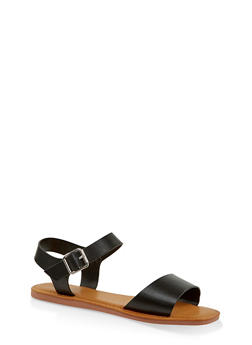 Single Band Ankle Strap Sandals | 3112004068725 - BLACK - 3112004068725