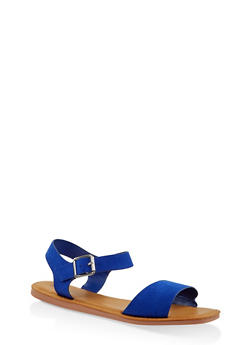 Single Band Ankle Strap Sandals | 3112004068725 - BLUE - 3112004068725