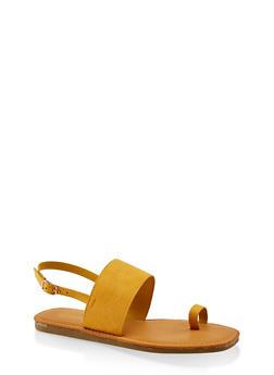 Slingback Toe Loop Sandals - 3112004068728
