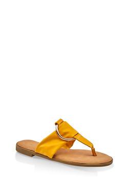 Metallic O Ring Thong Slide Sandals - 3112014067358