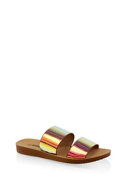 Double Band Slide Sandals | 3112056634030 - PINK - 3112056634030