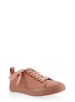 Lace Up Sneakers - BLUSH - 3112062720300