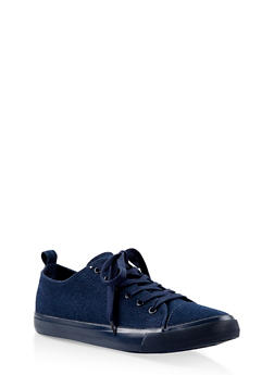 Lace Up Sneakers - DENIM - 3112062720303
