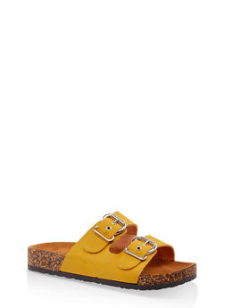 Two Buckle Footbed Slide Sandals | 3112062727302 - 3112062727302