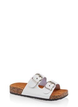Two Buckle Footbed Slide Sandals | 3112062727302 - 3112062727302