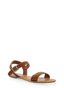 Buckle Strap Sandals - TAN - 3112073540052