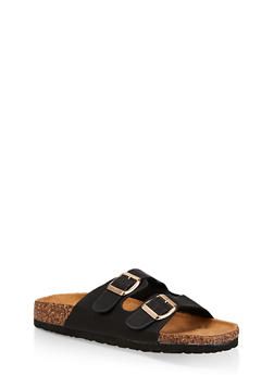 Two Buckle Footbed Sandals - 3112073541012