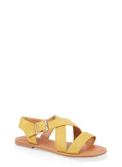 Criss Cross Strap Sandals - 3112073541041