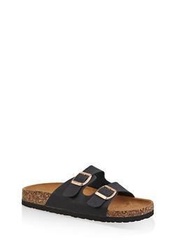 Two Buckle Footbed Slide Sandals | 3112073541902 - 3112073541902