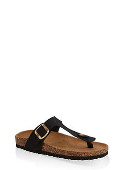Thong Footbed Slide Sandals | 3112073541903 - BLACK - 3112073541903