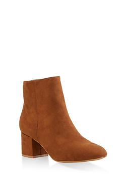 Block Heel Booties - 3113004062263