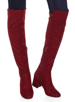 Stretch Back Over the Knee Boots - 3113004062266