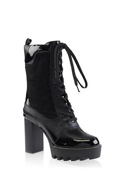Platform Lace Up Booties - 3113004064686