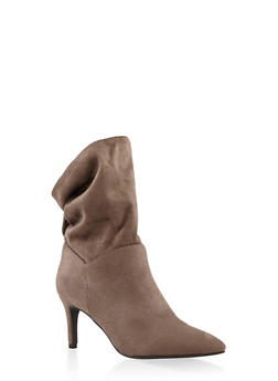 Slouchy Tabbed Booties - GRAY - 3113004065665