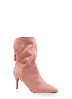 Slouchy Tabbed Booties - MAUVE - 3113004065665
