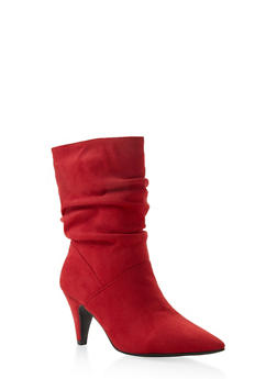 Pointed Toe Slouch Booties - 3113004067339