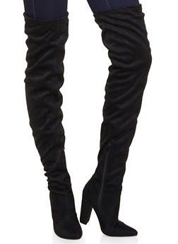 Over the Knee Pointed Boots - 3113004067765
