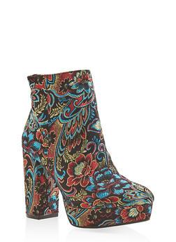 Platform High Heel Booties - BLACK - 3113014062667