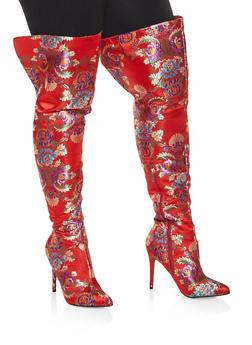 High Heel Over the Knee Boots - 3113014063337