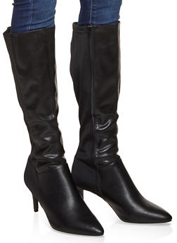 Tall Pointed Toe Boots - 3113014065671