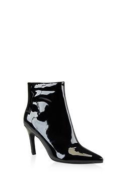 Pointed Toe Mid Heel Booties | 3113014068428 - 3113014068428