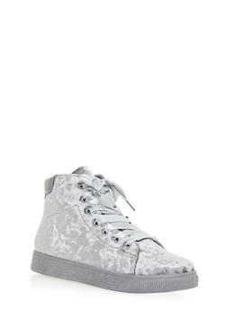 High Top Lace Up Sneakers - GRAY VLT - 3114004067648