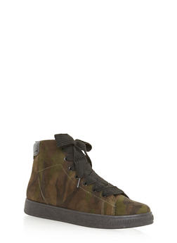 High Top Lace Up Sneakers - 3114004067648