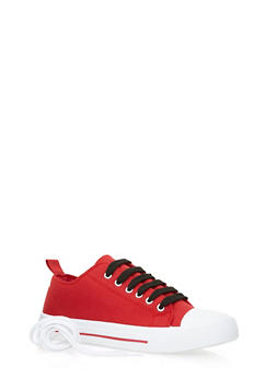 Knit Sneakers with Cap Toe - 3114004068255