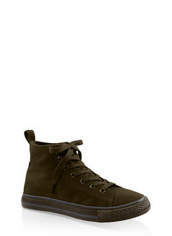 Lace Up High Top Sneakers - SAGE S - 3114004068463