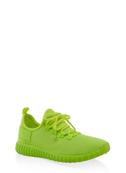Textured Knit Athletic Sneakers | 3114062723342 - 3114062723342