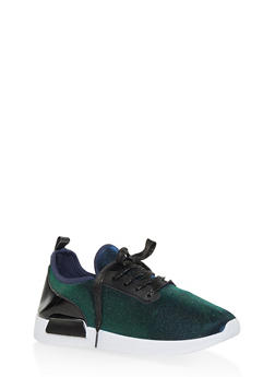 Knit Lace Up Sneakers - 3114062723466