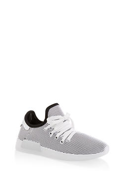 Mesh Lace Up Sneakers - 3114062723474