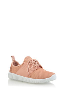 Knit Athletic Sneakers - BLUSH - 3114062723540