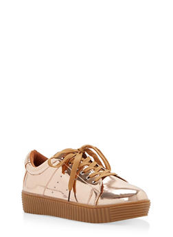 Lace Up Creeper Sneakers - 3114073541754